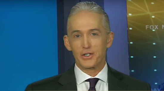 Trey Gowdy slams the DOJ, Clinton's, the Trump Dossier and the FBI. Photo taken from the video.