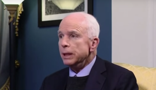 Back Stabbing John McCain. Photo Captured From Video.