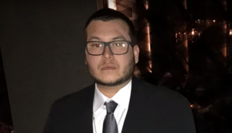 Las Vegas guard Jesus Campos vanished after visiting urgent-care clinic. Photo taken from video.