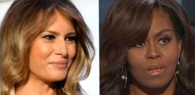 Melania Trump Saves Tax Payers Thousands Compared To Michelle. Photo compiled from video.
