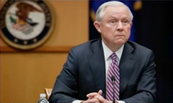 Jeff Sessions orders federal prosecutors to evaluate the Uranium-1 deal. This photo was captured from the video.