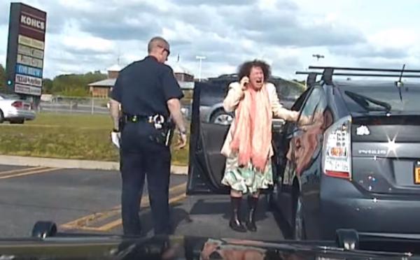 Ulster County Legislator Jennifer Schwartz Berky caught lying to police. Photo captured from the video.