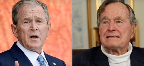 Both Bushes slam trump for a book deal. Photo captured through the video.