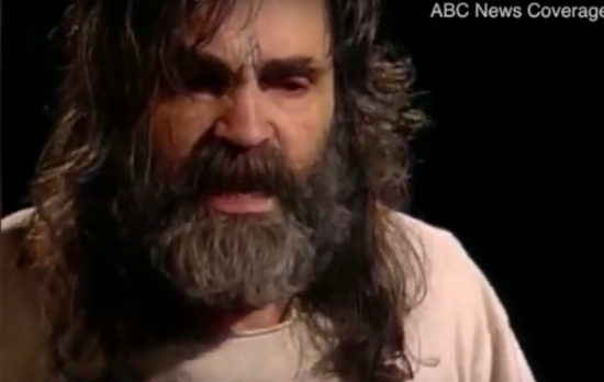 Charles Manson died at 83-years-old. Photo captured from the video.