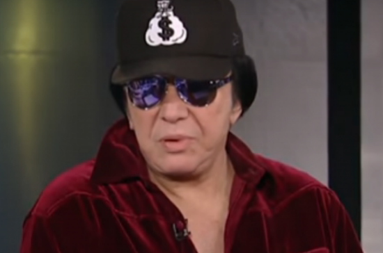 Gene Simmons creeped out Fox News' staff so bad they had to ban him for-life. Photo was captured from the video.