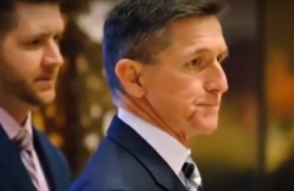 Micheal Flynn cooperating with Mueller. This photo was captured using the video.