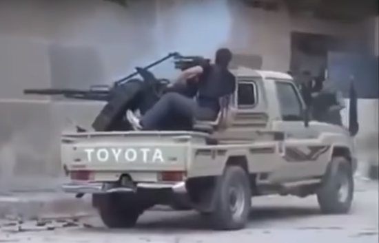 Idiots with guns: ISIS edition. Photo taken from the video.