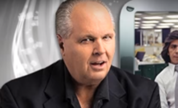 Rush Limbaugh. Photo captured from the video.