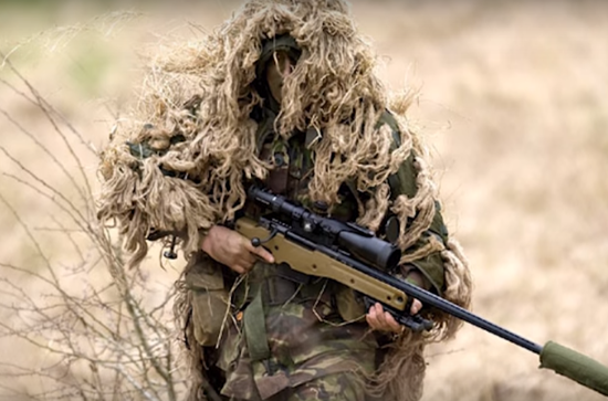 Amazing UK Sniper. Photo taken from the video.