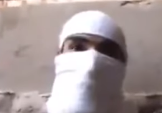 ISIS Soldier- Photo taken from the video.