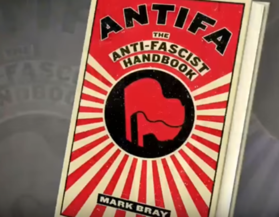 ANTIFA Handbook. Photo taken from the video.