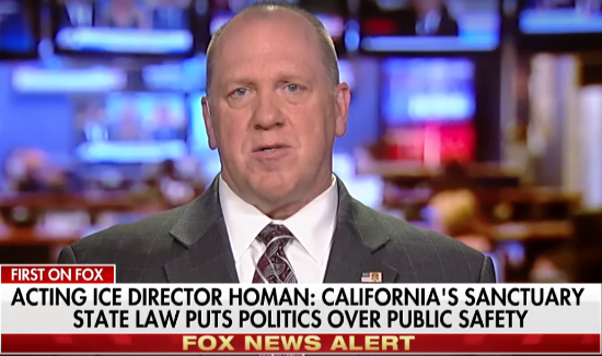 Acting ICE Director, Thomas Homan. Photo Taken From The Video.