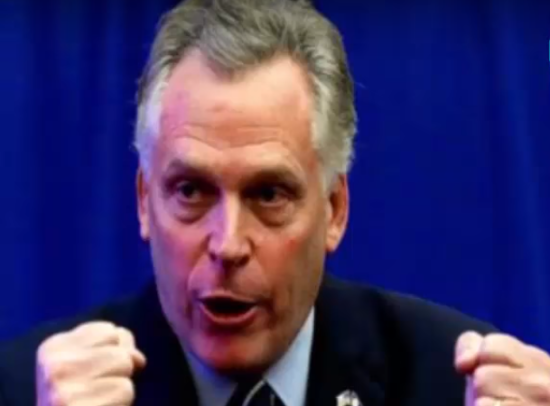 Terry McAuliffe. Photo from video.