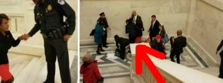 Maxine Waters Seen Tumbling Head First Down Capitol Building Steps [PHOTOS]
